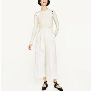 NWT Zara Off White Palazzo Wide Leg Trouser
